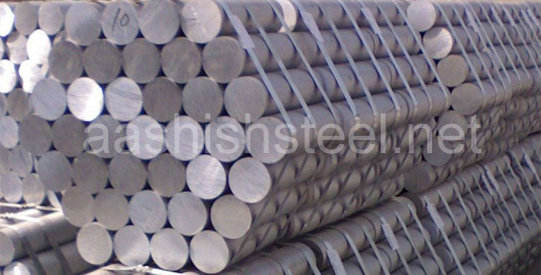 Original Photograph Of ASTM A182 F11 Alloy Steel Round Bars At Our Warehouse Mumbai, India