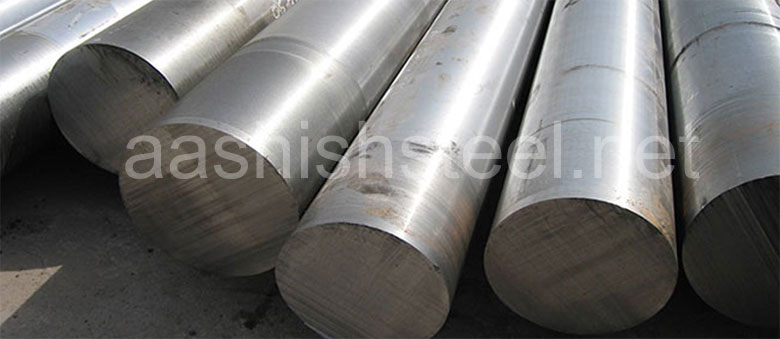 Original Photograph Of ASTM A182 F22 Alloy Steel Round Bars At Our Warehouse Mumbai, India