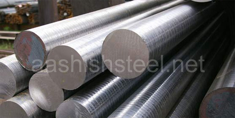 Original Photograph Of ASTM A182 F5 Alloy Steel Round Bars At Our Warehouse Mumbai, India