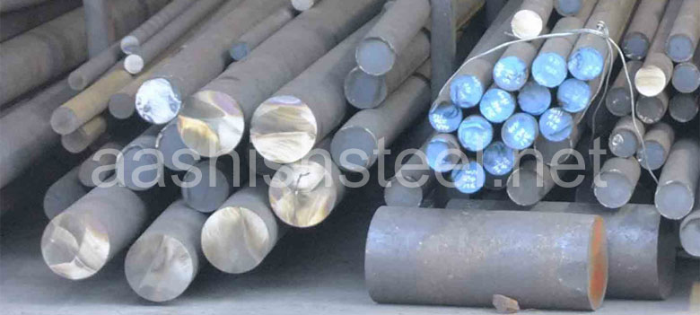 Original Photograph Of ASTM A182 F9 Alloy Steel Round Bars At Our Warehouse Mumbai, India