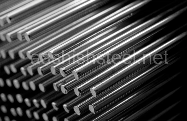 Original Photograph Of Stainless Steel 304H Round Bars At Our Warehouse Mumbai, India