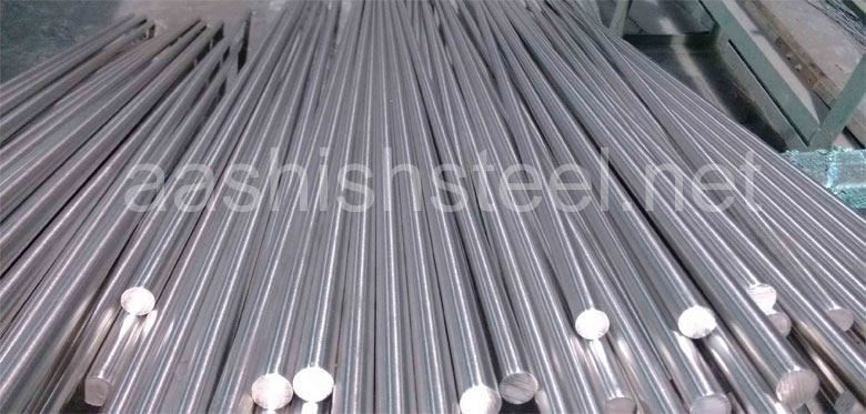 Original Photograph Of Stainless Steel 310S Round Bars At Our Warehouse Mumbai, India