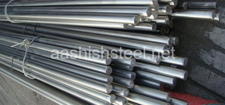 Original Photograph Of Stainless Steel 410 Round Bars At Our Warehouse Mumbai, India