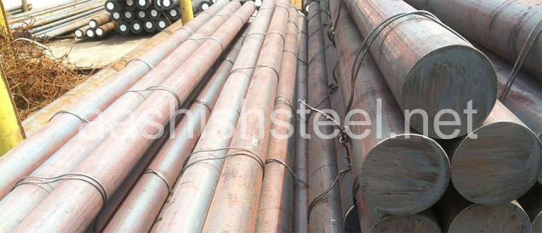 Original Photograph Of Stainless Steel 420 Round Bars At Our Warehouse Mumbai, India
