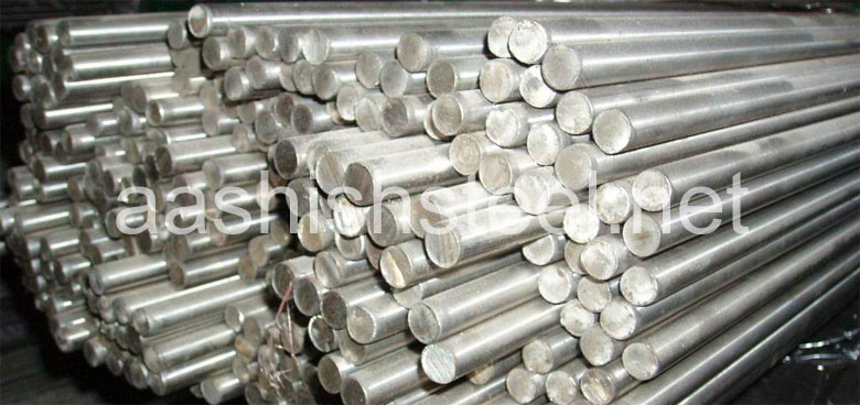 Original Photograph Of Stainless Steel 440C Round Bars At Our Warehouse Mumbai, India
