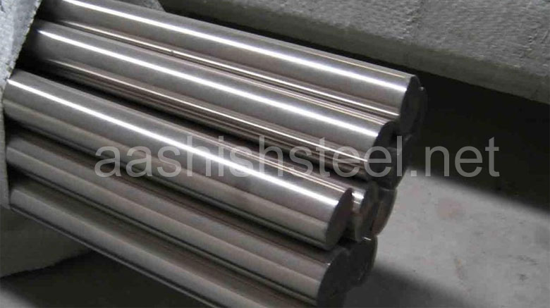 Original Photograph Of Stainless Steel 446 Round Bars At Our Warehouse Mumbai, India
