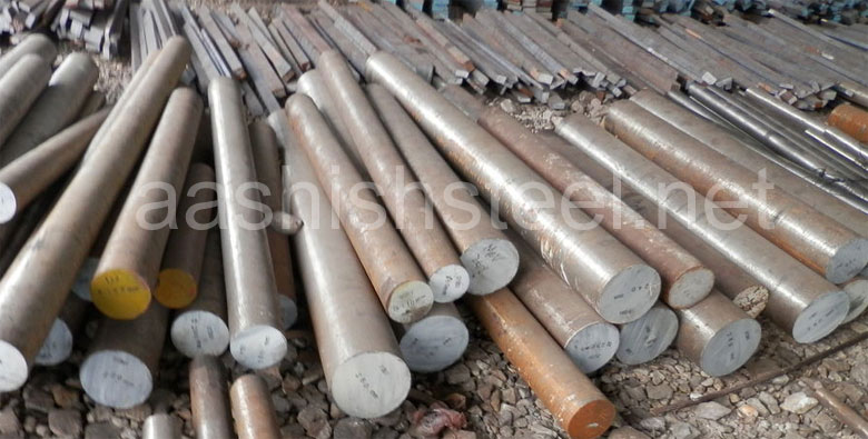 Original Photograph Of Incoloy 800HT Round Bars At Our Warehouse Mumbai, India