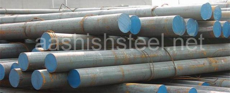 Original Photograph Of Carbon Steel Round Bars At Our Warehouse Mumbai, India