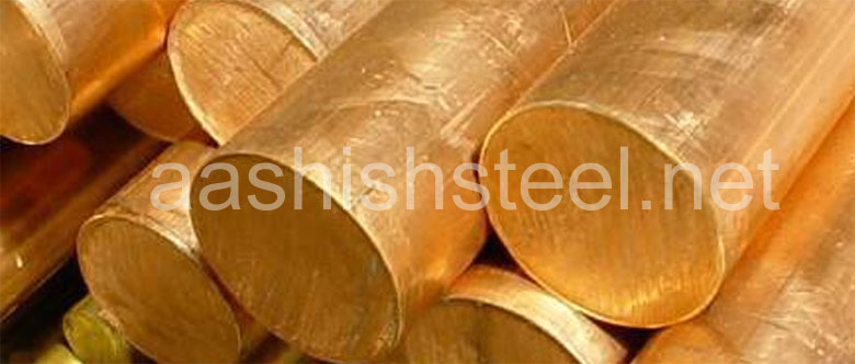 Original Photograph Of Copper Nickel Round Bars At Our Warehouse Mumbai, India