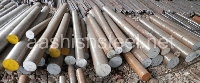 Original Photograph Of Duplex Steel Round Bars At Our Warehouse Mumbai, India