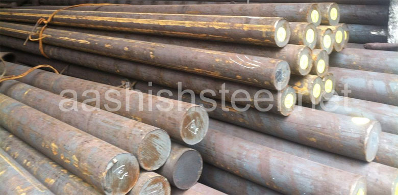 Original Photograph Of A479 UNS S31803 Duplex Stainless Steel Round Bars At Our Warehouse Mumbai, India