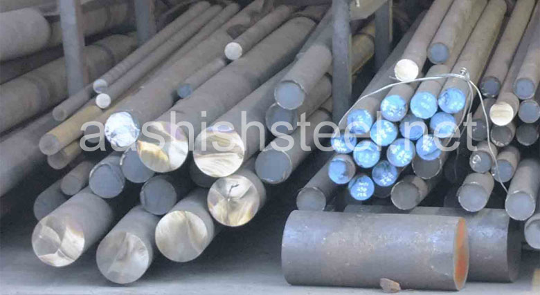 Original Photograph Of UNS S32205 Duplex Stainless Steel Round Bars At Our Warehouse Mumbai, India