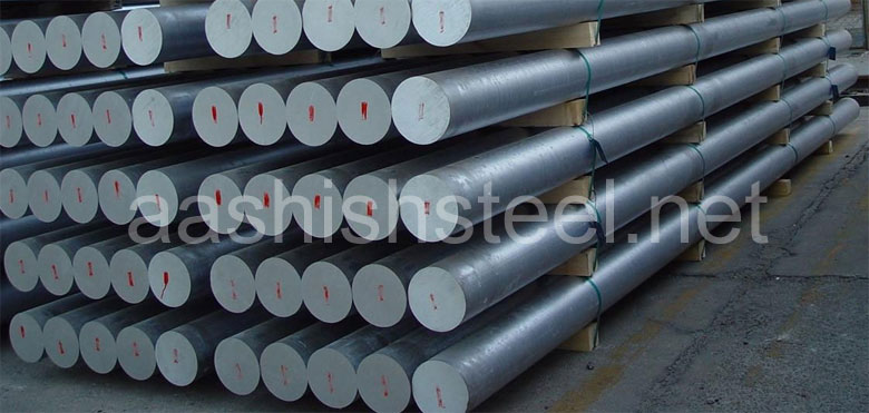 Original Photograph Of Hastelloy C22 Round Bars At Our Warehouse Mumbai, India