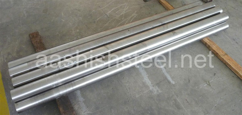Original Photograph Of Hastelloy Round Bars At Our Warehouse Mumbai, India