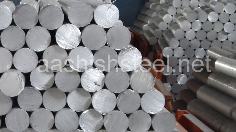 Original Photograph Of Stainless Steel 15-5 PH Round Bars At Our Warehouse Mumbai, India