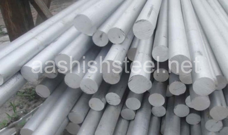 Original Photograph Of Stainless Steel 17-4 PH Round Bars At Our Warehouse Mumbai, India
