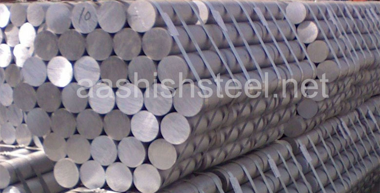 Original Photograph Of Inconel Round Bar At Our Warehouse Mumbai, India