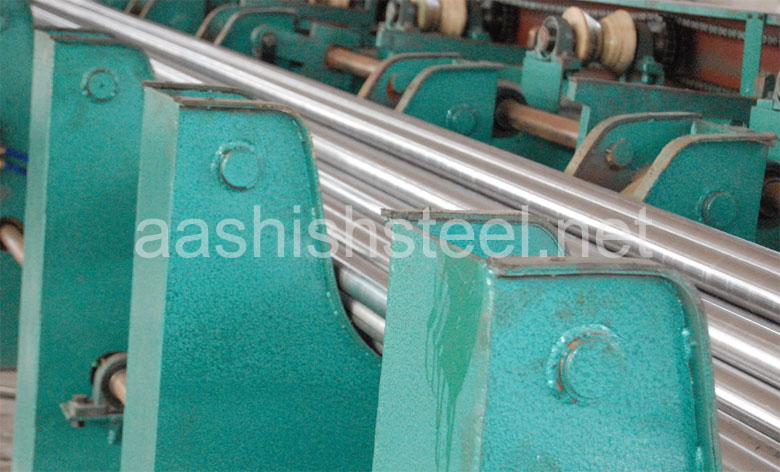 Original Photograph Of Hastelloy Round Bar At Our Warehouse Mumbai, India